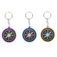 Outdoor Camping Hiking Pointing Guider Keychain Plastic Compass NavigationPDH BC