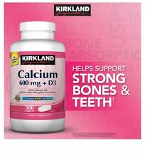 Kirkland Signature Calcium 600 mg + D3, 500 tablets-New-Best Price Ships Free!