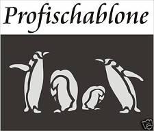 Wandschablone, Wandschablonen, Malerschablone, Stupfschablone, Stencil, Pinguine