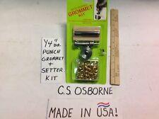 "C.S. Osborne Complete Grommet Kit #0 1/4"" Cutter Punch Grommets"