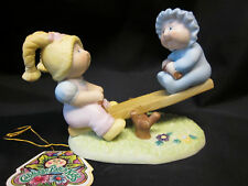 "CABBAGE PATCH KIDS VTG New Fine Porcelain ""Playground Fun"" See Saw Free US Ship"
