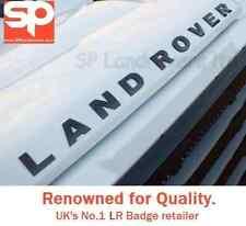LAND Rover sollevato 3D Lettering Badge decalcomanie Logo Nero Lucido TDCi Td5 DEFENDER