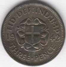 More details for 1942 george vi silver threepence   british coins   pennies2pounds