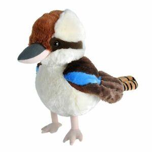 "Kookaburra bird soft plush toy 10""/25cm stuffed animal by Wild Republic"