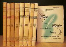 LES LETTRES CANADIENNES D'AUTREFOIS PAR SÉRAPHIN MARION. 9 VOLUMES.
