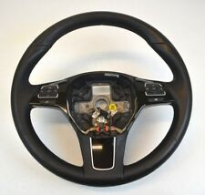 OEM VW Volkswagon Touareg Steering Wheel Black Leather Buttons