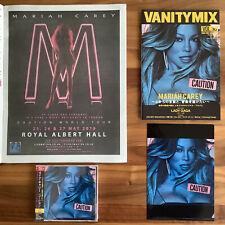 JAPAN MAG+UK POSTER+PROMO CLEAR FILE+BONUS TRACK RUNWAY+CAUTION CD! MARIAH CAREY