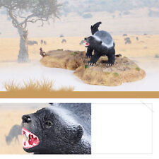 2018 Honey Badger Model Statue Animal Figure Base Toy Figurine Collector Decor