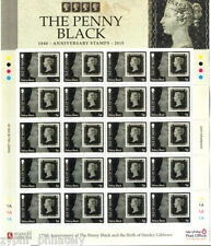 """Isle of Man IOM - """"175 YEARS OF THE PENNY BLACK"""" MNH Stamp Sheetlet 2015 !"""
