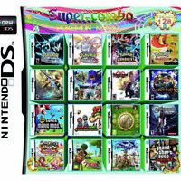 208in1 Game Games Cartridge Multicart For Nintendo DS NDS NDSL NDSi 2DS 3DS US