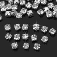 200pcs Charming Sparkle Clear Crystal Rhinestones Sew on Craft Dress Making Set