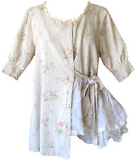 Les Ours Floral Print Cotton Annick Jacket w/ Organza Ruffles Romantic Style