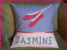 CHILD'S/GIRS PERSONALISED NAME CUSHION COVER/NURSERY/SHOWER/GIFT - BALLET SHOES