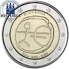Slowenien 2 Euro Gedenkmünze 2009 bfr. 10 Jahre WWU EUM Wirtschaftsunion