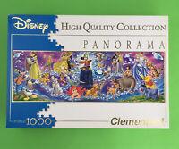 Disney Family Jigsaw Puzzle 1000 Panorama Mickey Mouse Eeyore Bambi Mermaid Duck