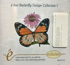 e-line BUTTERFLY Design Collection I  Baby Lock embroidery card BLEC-C11 Brother