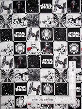 Star Wars Stormtrooper Fighter Vader Block Cotton Fabric Camelot #7360106 - Yard