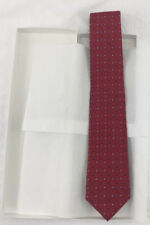 Club Room Men's Neck Tie, Red Blue Lattice Plaid Check, 100% Silk, One Size