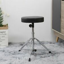 More details for drum throne padded seat portable height adjustable drumming stool for kids adult