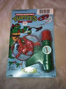 1988 Teenage Mutant Ninja Turtles FLYING PROPS pistol TMNT Vintage