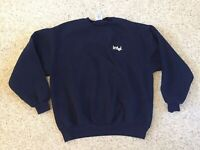 Vintage 90's Intel Computing Sweatshirt Size XL Navy Blue Spellout Logo USA Made