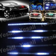 "2pcs White 12"" Flexible Knight Rider Scanner LED Strip Light Strobe Waterproof"