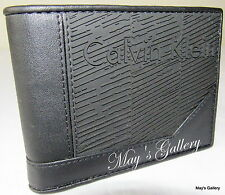 Calvin Klein Passcase Wallet BiFold Bill rubber Purse Bag case Men CK NWT