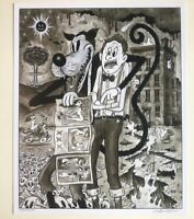 """WOLF And The APOCALYPE 12x15"""" signed print By Frank Forte Pop Surrealism Horror"""