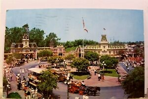 Disneyland Main Street Town Square Postcard Old Vintage Card View Standard Post