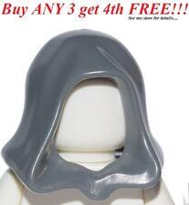 ☀️NEW Lego City Boy/Girl Minifig Hat Dark Bluish Gray Starwars Jedi Hood Cape