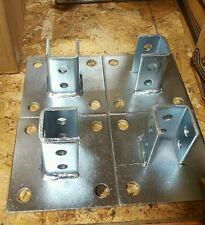 """Unistrut (P2072A SQ) Post base (4pcs) with 25pcs 5/8"""" square washer zinc"""