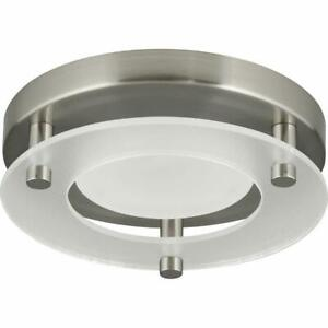 "Progress Lighting 5.5"" Flush Mount Brushed Nickel LED Flush Mount P8247-09-30K"