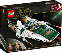 75248 LEGO Star Wars Resistance A-Wing Starfighter Set 269 Pieces Age 7+