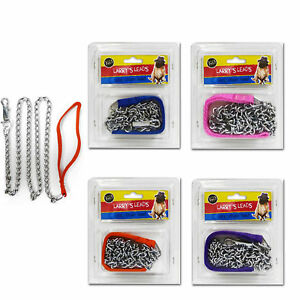 Dog Lead Chain Lead for Walking with Clip 1.2m by Larry's Leads