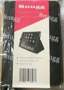 iPad Mini 1, 2, 3 PU Leather 360 Degree Rotating Smart FLIP Stand Case Cover