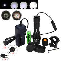 Zoomable 6000LM Tactique XML T6 blanc LED 5modes Lampe de poche Torche Lumière