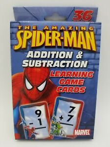 The Amazing Spider-Man Addition & Subtraction Learning Game Cards Marvel NEW
