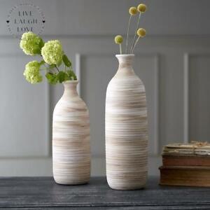 Ribbed Bottle Vase