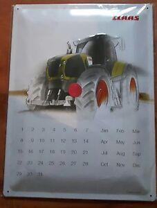 Claas Traktor Blechschild, Landwirtschaft, Wanddeko, Jahreskalender
