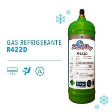 GAS REFRIGERANTE R422D sostitutivo R22 da 1 Lt bombola ricarica climatizzatori