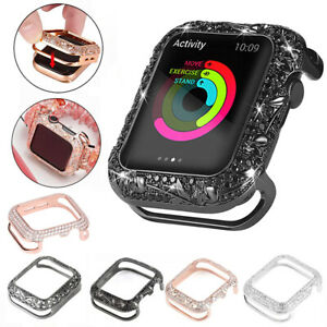 Metal Diamond Crystal Protective Case For Apple Watch iWatch Series SE 6 5 4 3 2