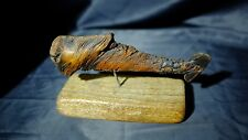 OOAK Driftwood Folk Art Whale Natural Formation Home Decor on Stand