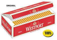 5 Cartons Westport Original 100's Cigarette Filter Tubes Red (1000ct)