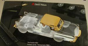 🔴 Franklin Mint FORD 1956 Thunderbird Dreambird 1:24 Crystal & 24 Karat Gold