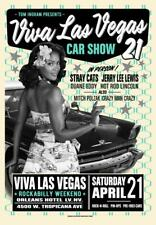 Stray Cats POSTER Jerry Lee Lewis Viva Las Vegas Car Show VLV21 Rob Kruse Signed