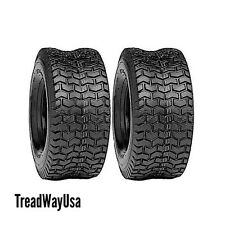 TWO LAWN 15X6X6 NHS 15X6.00-6 Turf Tires Garden Tractor Lawn Mower Riding Mower
