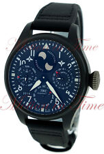 IWC Big Pilot's Perpetual Calendar TOP GUN Black Ceramic Watch 48mm IW502902