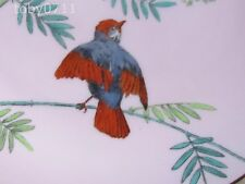 "MINTONS ESSEX BIRDS 9½"" PLATE - RARE PINK GROUND - C1900 (Ref2533)"