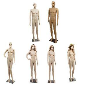 Full Body Mannequin Male/Female Dummy Retail Dressmaker Display Plastic Durable