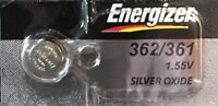 ENERGIZER 362/361 1 Pce  Battery AG11 LR721 V362 V361  Authorized seller.